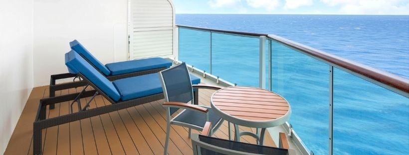 Le balcon d'une chambre du navire Brilliance of the Seas