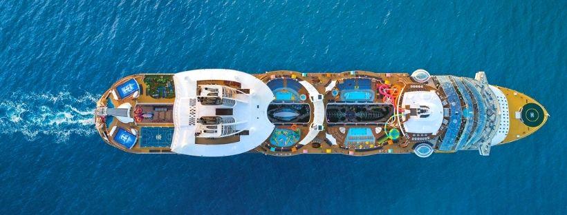 Le navire Oasis of the Seas vu du haut