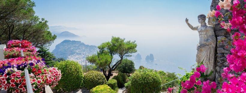 paysage ensoleillé de Capri