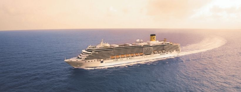 Le bateau Costa Deliziosa en pleine mer