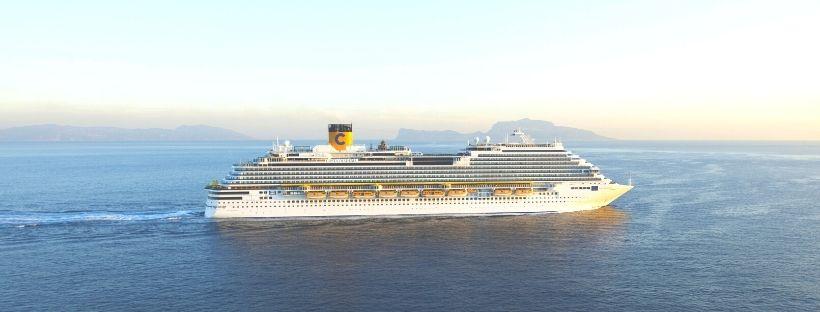 Le Costa Diadema en pleine mer