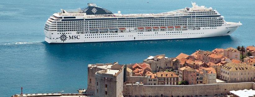 Le MSC Musica au port de Dubrovnik