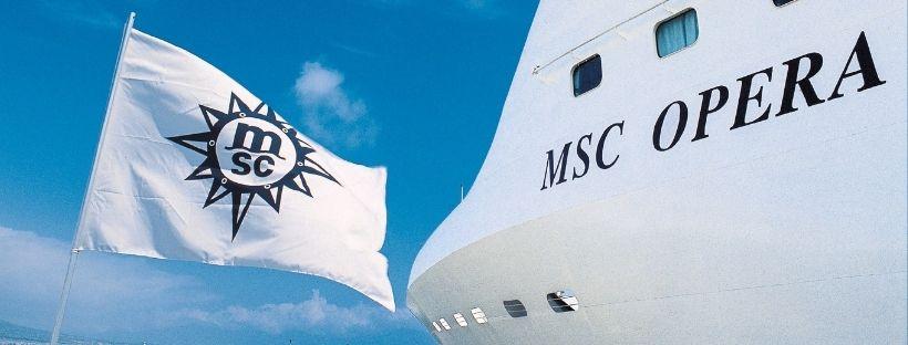 Aperçu du MSC Opéra avec un drapeau MSC