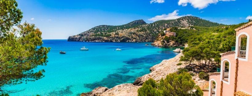 Photo Palma de Majorque mer turquoise et maison typique