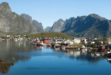 Leknes, les îles Lofoten - Norvège
