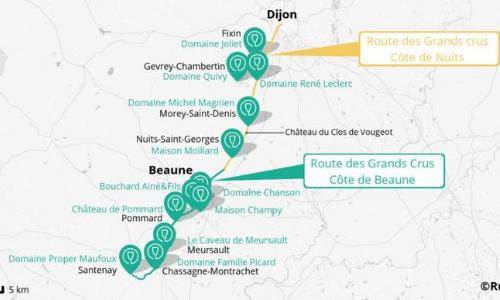 Itinéraire La Route des Grands Crus