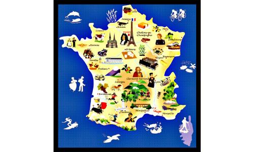 La carte tourisque française