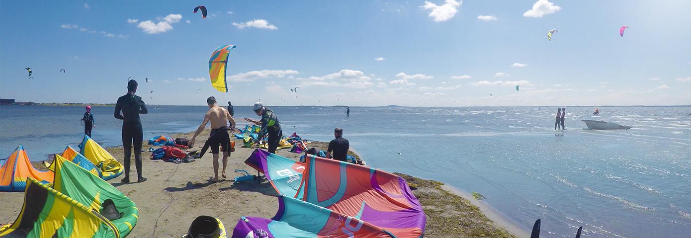 Kitesurf sur l'étang de Thau