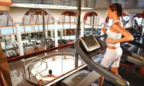 La salle de sport du bateau Costa Mediterranea