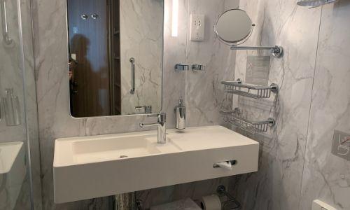 La salle de bain des cabines veranda du Costa Smeralda