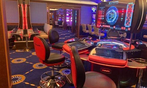 L'intérieur du Casinon du paquebot