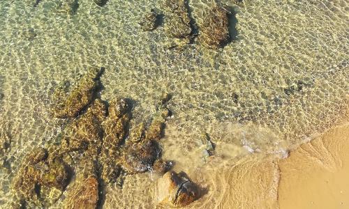 La plage d'Ajaccio