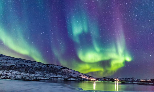 Une aurore boréale en Norvège