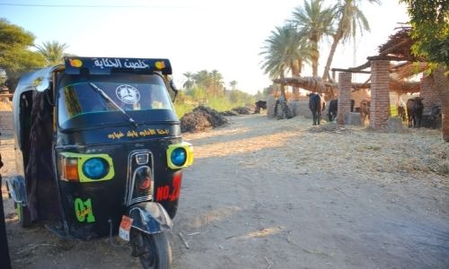 Tuk Tuk, moyen de transport typique en Egypte