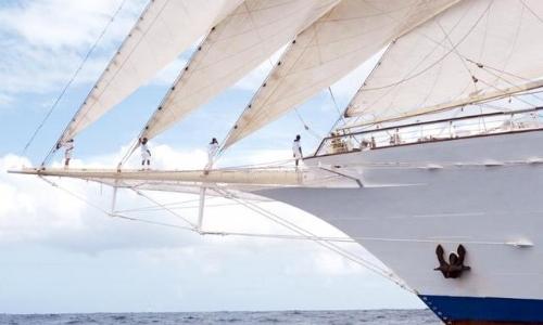 Vue sur l'avant d'un voilier de Star Clipper