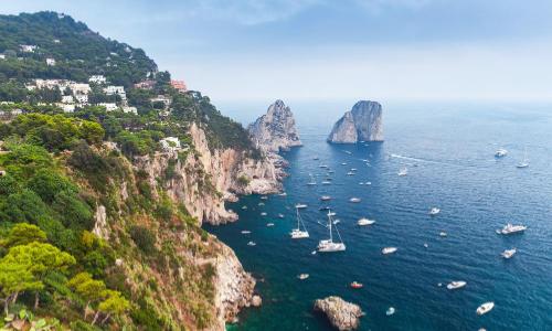 L'île Capri en Méditerranée