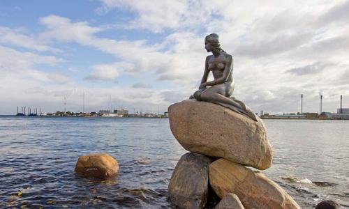 La statuette Den Lille Havfrue à Copenhague