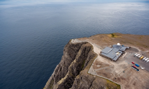Cap Nord de Norvège surplombant l'Arctique