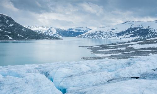 Le Massif du Jostedalsbreen, glacier, ambiance glaciale