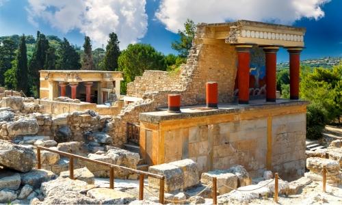 Les ruines du Palais minoen de Knossos