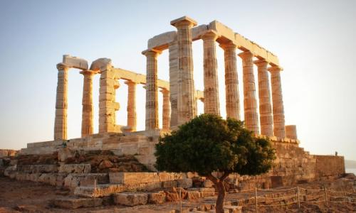 Ruines du Temple de Poseidon sur le Cap Sounion