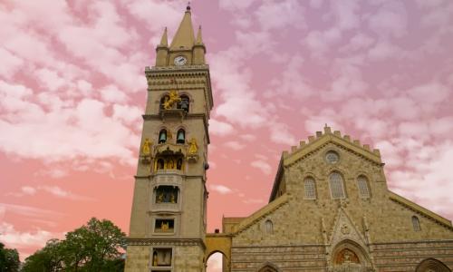 Vue sur la Cathédrale de Messine