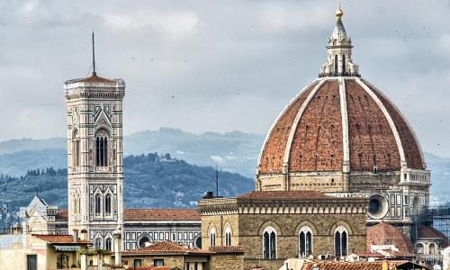 Vue aérienne sur le dôme de la cathédrale de Florence