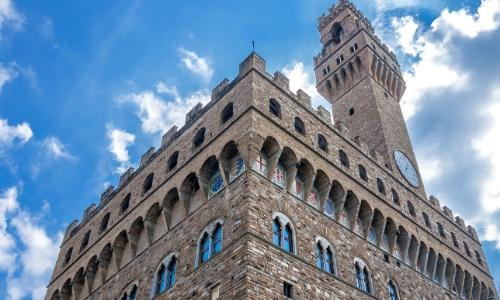 Vue sur le Palazzo Vecchio de Florence