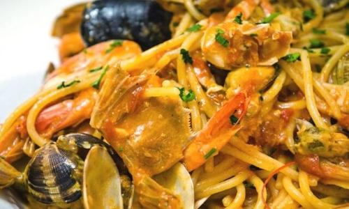 Les spaghetti alla marinara, de l'île d'Elbe
