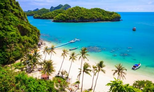Vue sur l'île de Ko Samui en Thaïlande