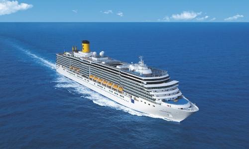 Vue du navire Costa Deliziosa en pleine navigation