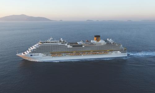 Le navire Costa Diadema en mer
