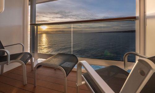 Vue sur le balcon des cabines balcon du MSC Grandiosa
