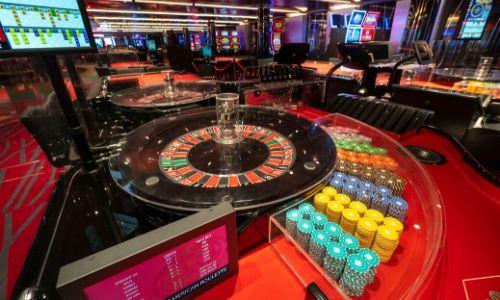 Les roulettes du casino du bateau