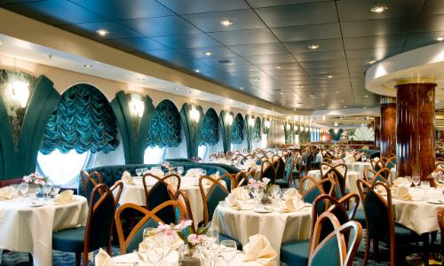 Le restaurant Edera à bord