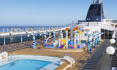Les piscines à bord du MSC Opera