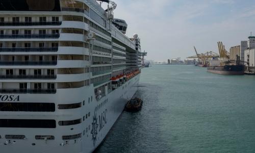 Le navire MSC Preziosa à quai