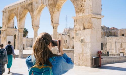 Passagers de croisière en escale à Jérusalem