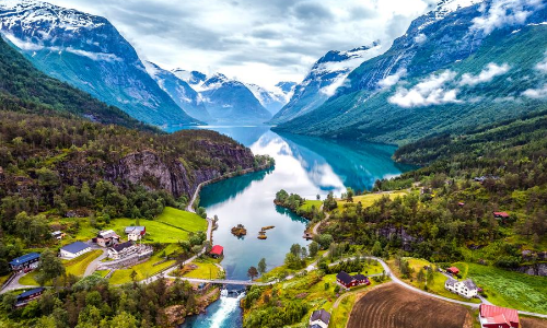 La nature luxuriante de la Norvège