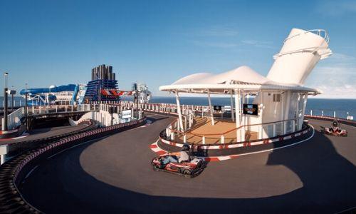 Piste de karting à bord du Norwegian Encore