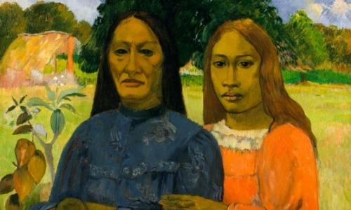 Peinture impressionniste de Paul Gauguin, portrait de deux personnes