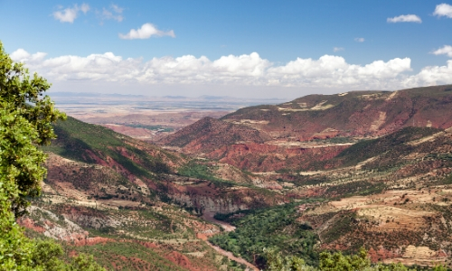 Vue sur le massif de l'Atlas au Maroc
