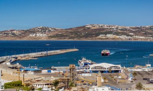 Le port de Tanger au Maroc