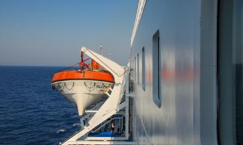 Canot de sauvetage sur le navire