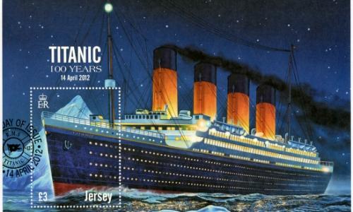 Illustration colorée du Titanic pour ses 100 ans