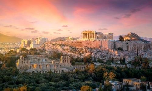 Vue sur l'Acropole d'Athènes
