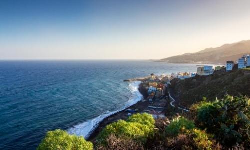 Vue aérienne sur la côte de Las Palmas