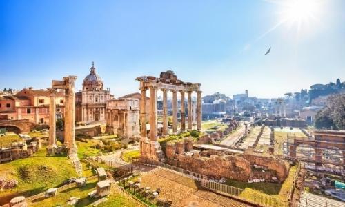 Forum romain avec ruines