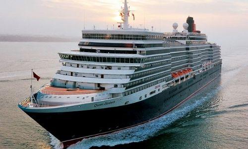 bateau de croisière Cunard sur l'eau