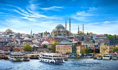 La vue de la ville d'Istanbul